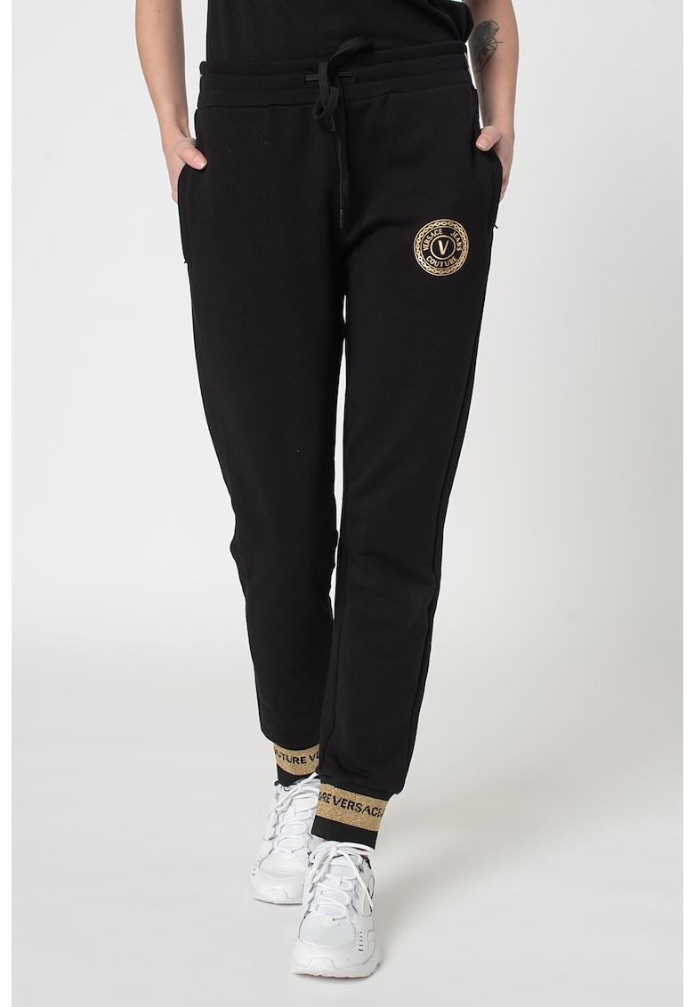 Pantaloni sport cu snur in talie de la Versace Jeans Couture
