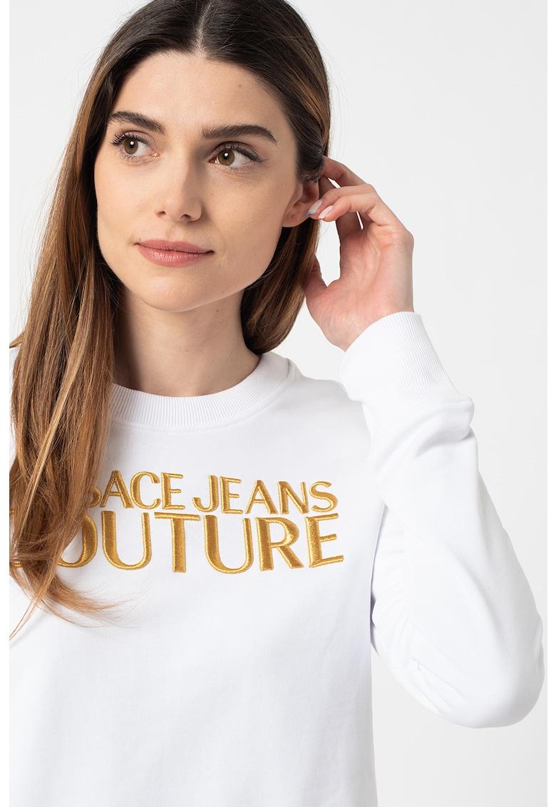 Bluza sport regular fit cu logo brodat