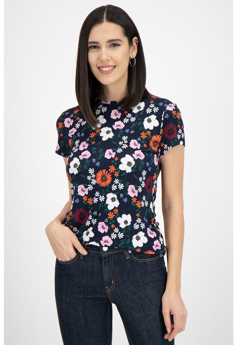 Tricou cu model floral Treina imagine promotie