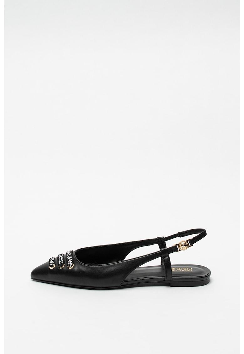 Versace Jeans Couture Pantofi slingback din piele cu varf ascutit Audrey