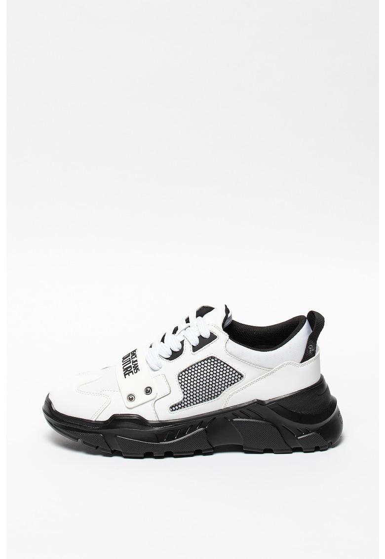 Pantofi sport din piele si piele ecologica cu insertii cu material textil imagine