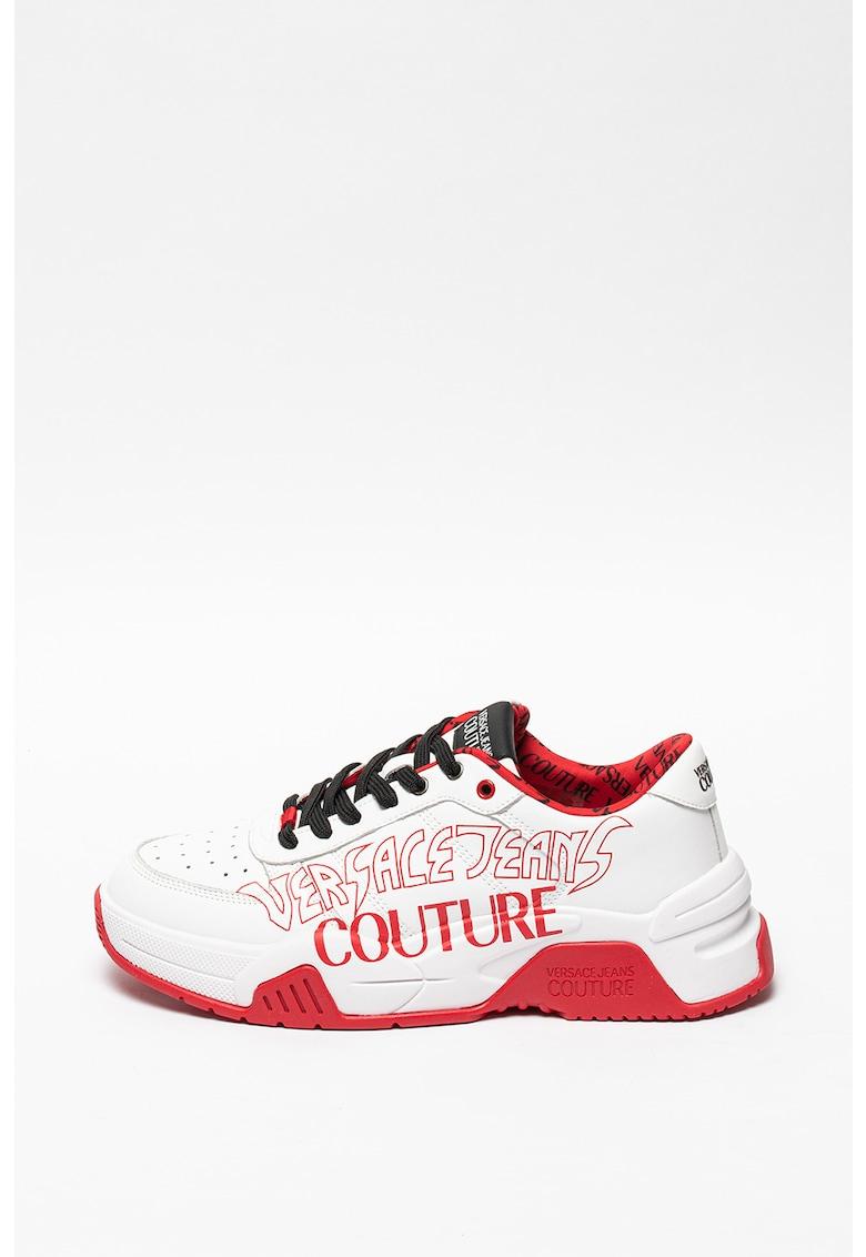 Pantofi sport din piele cu model logo