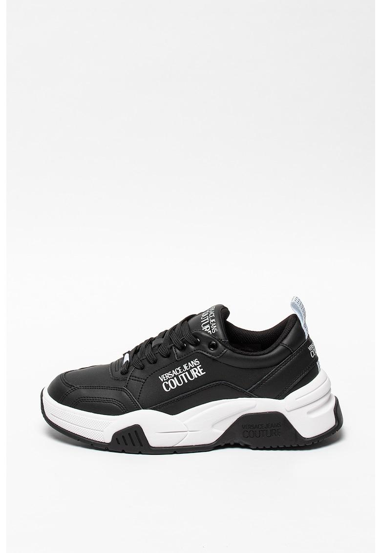 Pantofi sport din piele lacuita si insertii din material sintetic fashiondays.ro