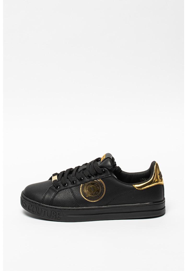 Pantofi sport din piele si material sintetic