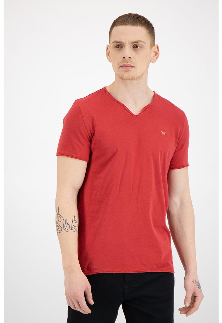 Tricou din bumbac cu decolteu in V Bărbați imagine