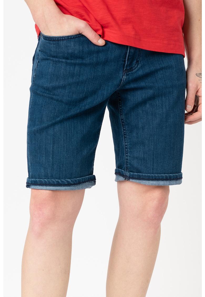 Pantaloni scurti slim fit de denim cu talie medie Washington