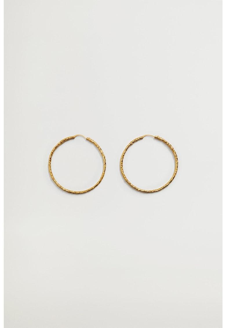 Cercei rotunzi placati cu aur de 24K Carminas imagine promotie