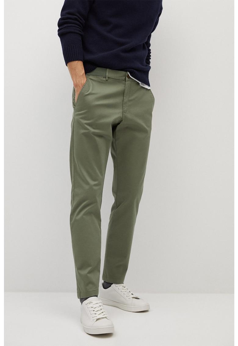 Pantaloni crop chino cu croiala conica Prato