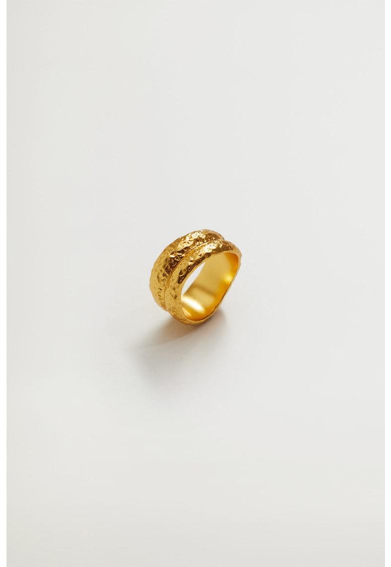 Inel placat cu aur de 24K si cu aspect texturat Polina