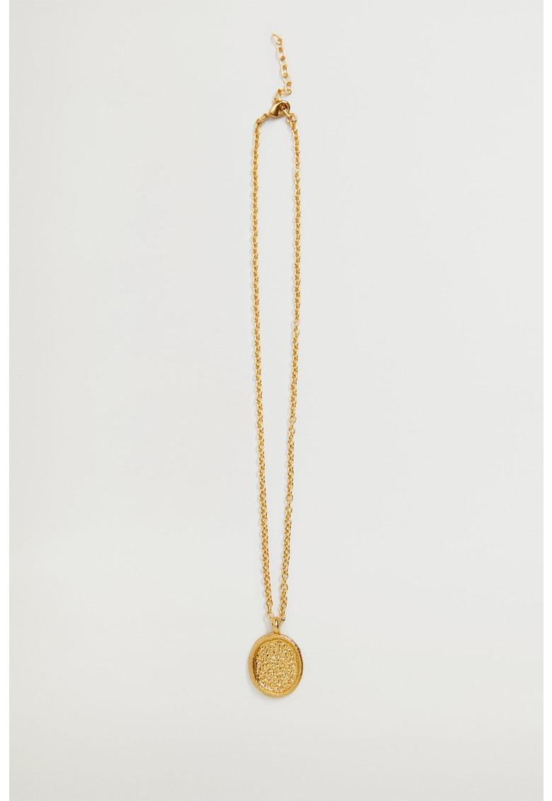 Colier placat cu aur de 24K - cu pandantiv texturat Rosella