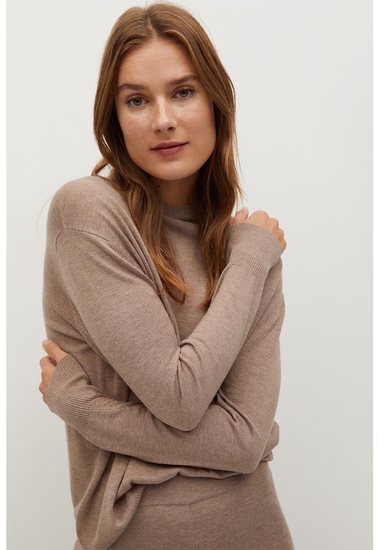 Pulover din tricot fin cu maneci cazute Corin
