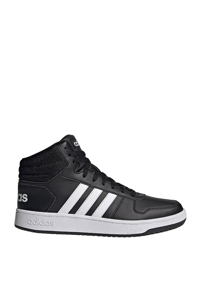 Pantofi sport mid-cut de piele ecologica Hoops 2.0 imagine
