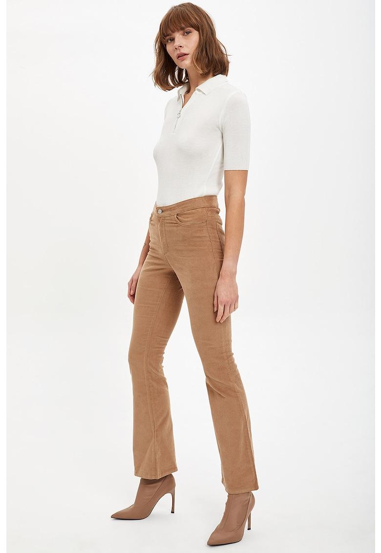 Pantaloni slim fit cu talie inalta DeFacto imagine 2021