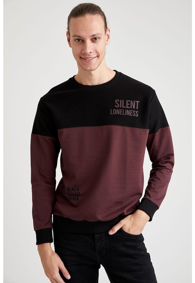 Bluza sport cu detaliu text de la DeFacto