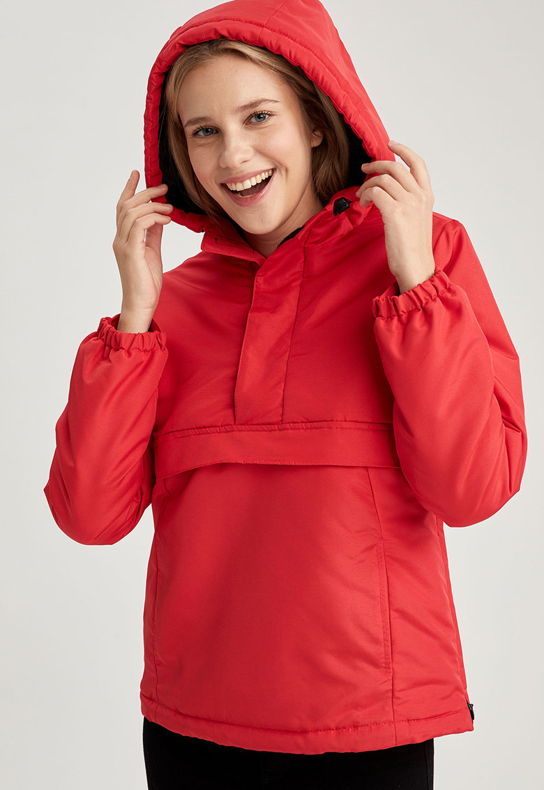 Jacheta cu gluga si buzunare laterale - fara inchidere imagine promotie