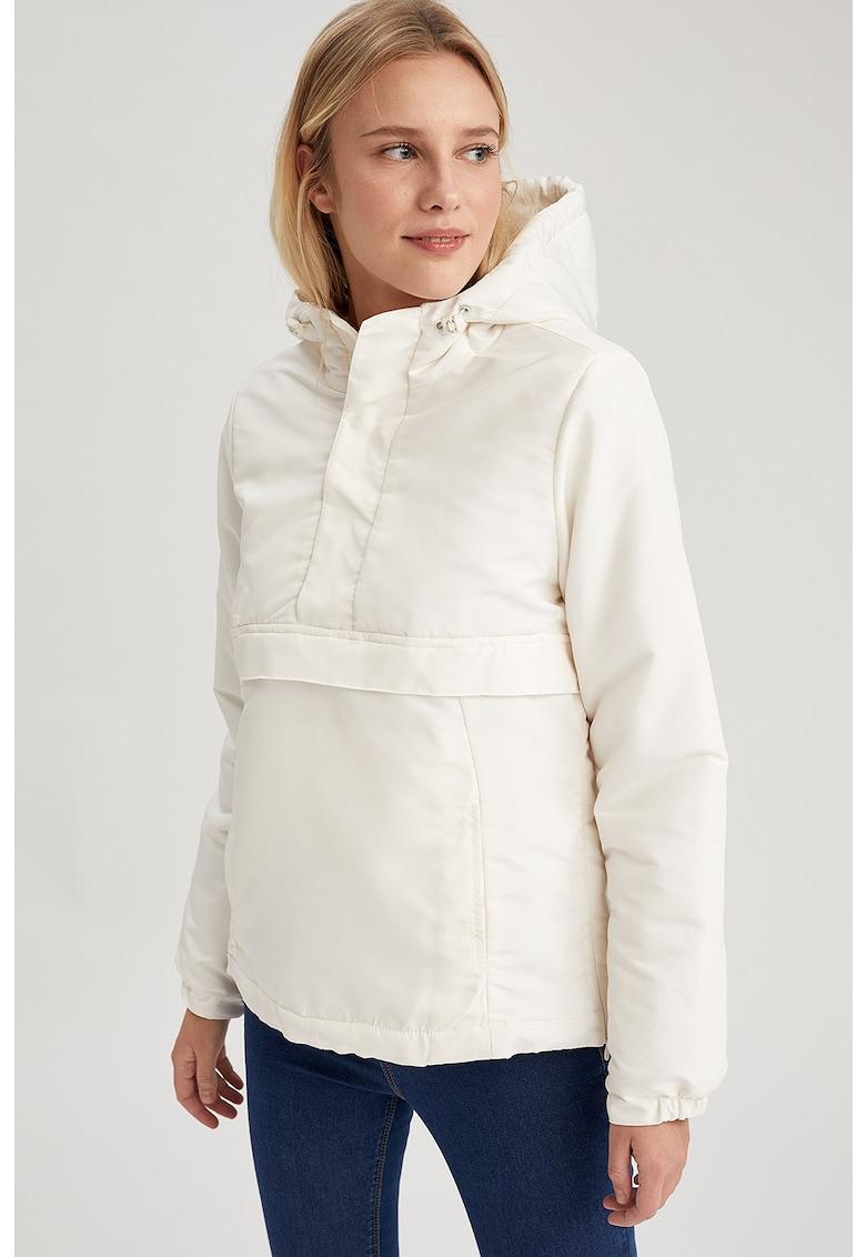 Jacheta cu gluga si buzunare laterale - fara inchidere