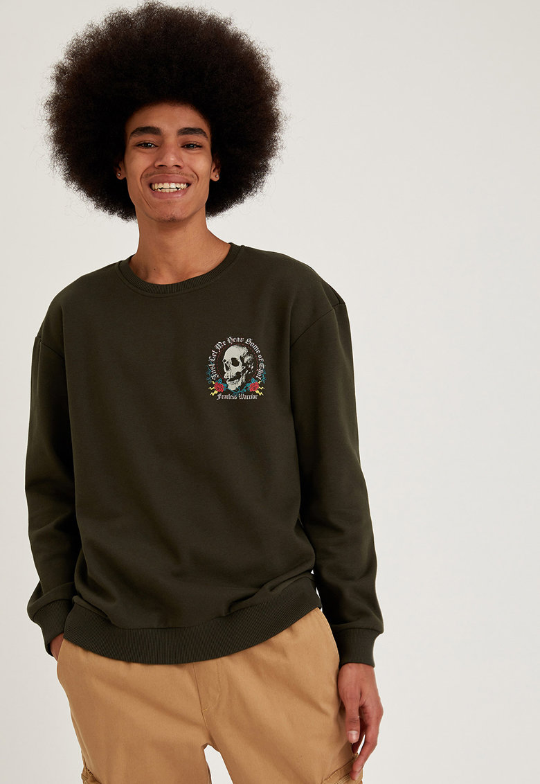 Bluza sport cu imprimeu grafic imagine promotie