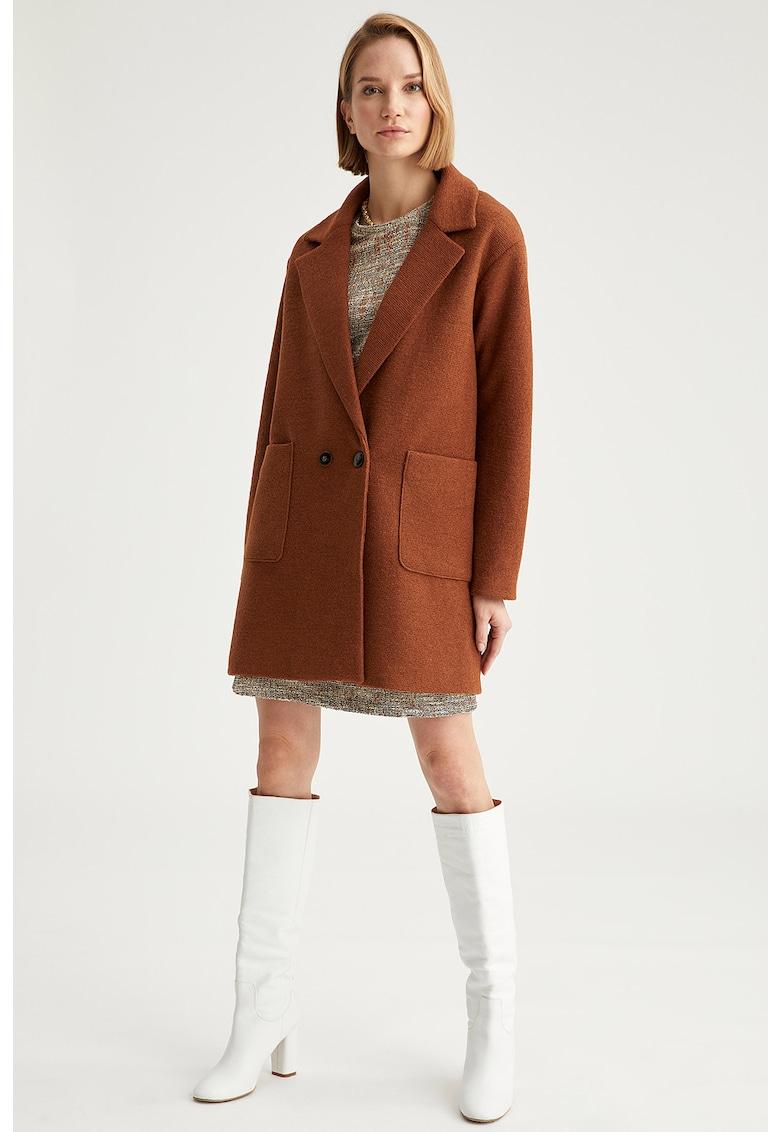 Palton supradimensionat din amestec de lana fashiondays.ro