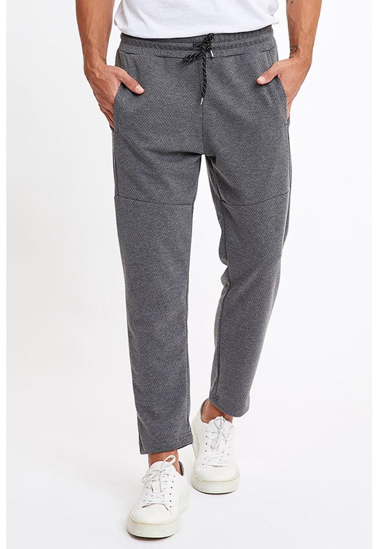 Pantaloni sport conici cu snururi in talie imagine fashiondays.ro
