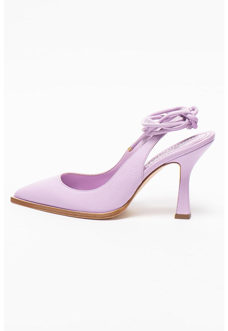 Pantofi de piele cu snururi infasurabile Camelia