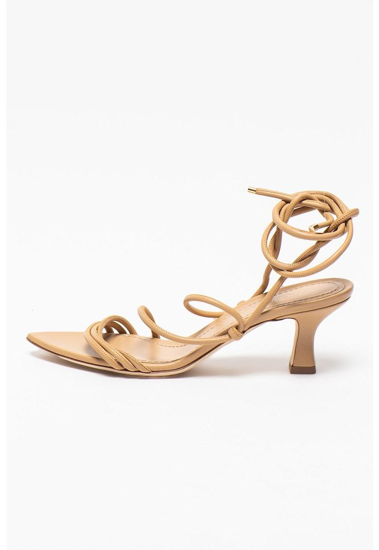 Sandale petrecute de piele Dafne