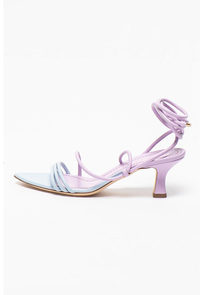 Sandale de piele cu toc inalt Dafne