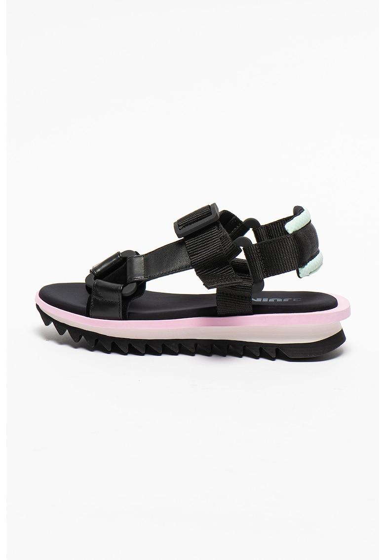 Sandale de piele si material textil Malia