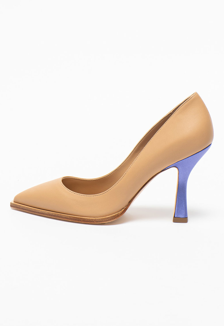 Pantofi cu varf ascutit si toc contrastant Melissa