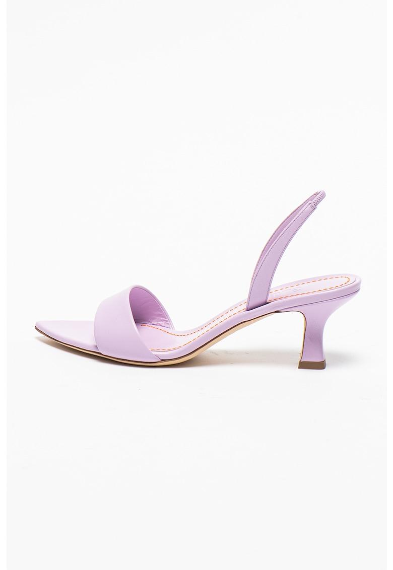 Sandale slingback de piele Orchid