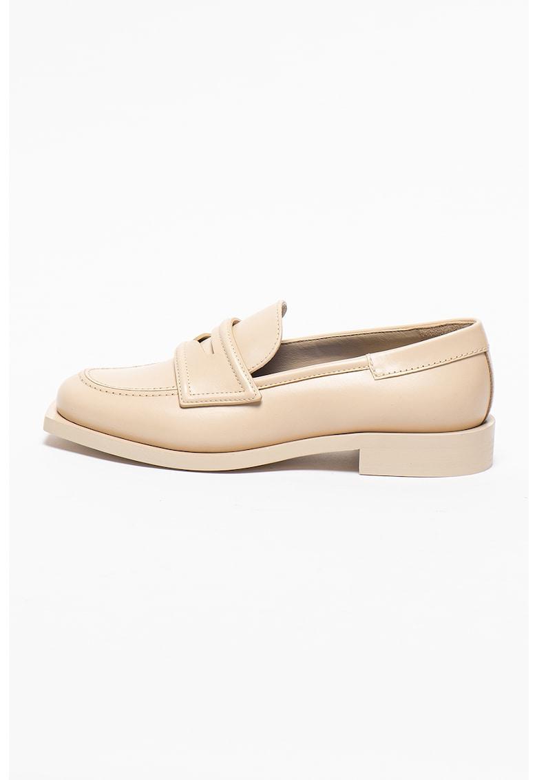 3JUIN Pantofi loafer Penny de piele Viola