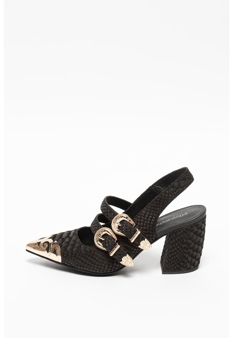 Pantofi slingback de piele cu aspect de piele de reptila Walter Jeffrey Campbell fashiondays.ro