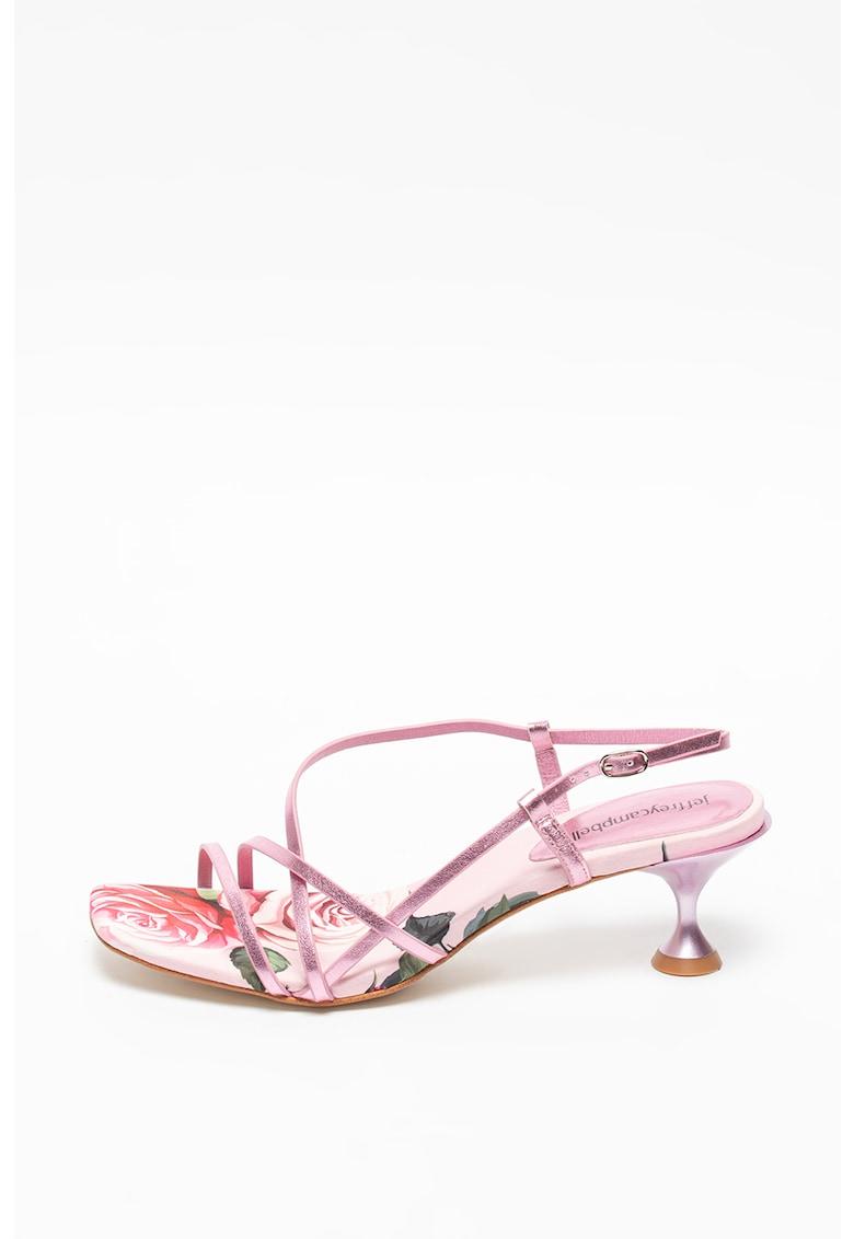 Sandale de piele ecologica cu imprimeu Noemi fashiondays.ro