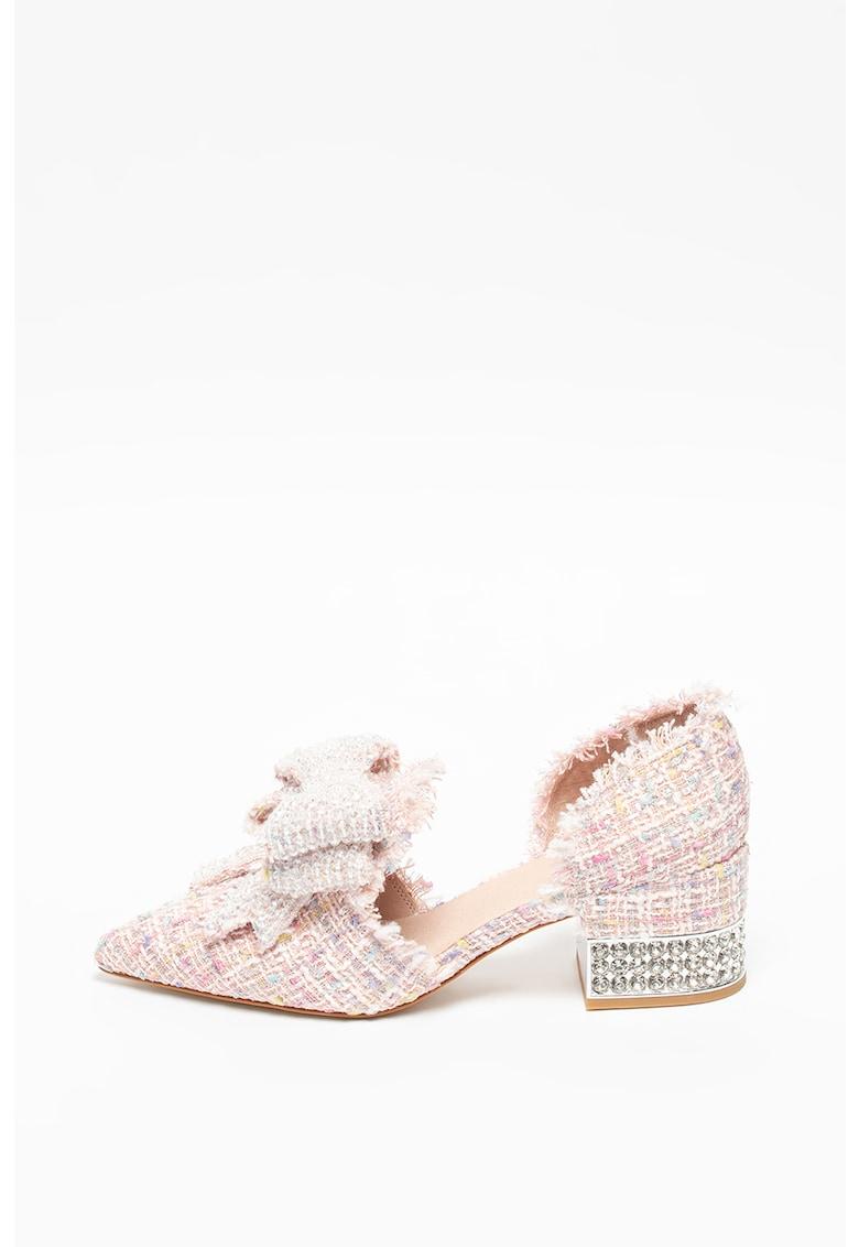 Pantofi din tuid cu funda Valenti