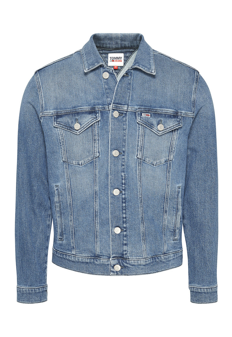 Tommy Jeans Jacheta din denim cu aspect decolorat