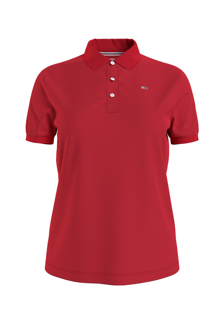 Tricou polo slim fit din bumbac organic Tommy Jeans fashiondays.ro