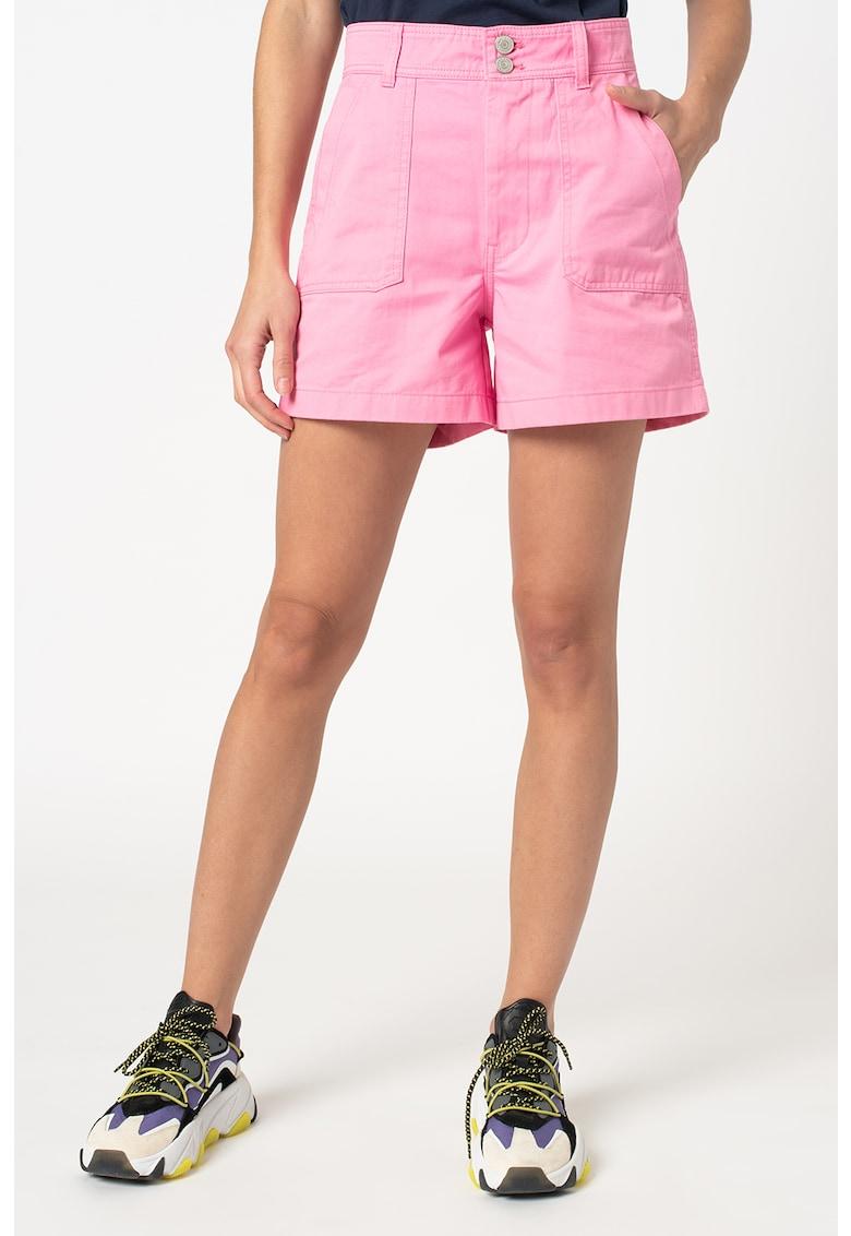 Pantaloni scurti de denim cu talie inalta Harper imagine fashiondays.ro 2021