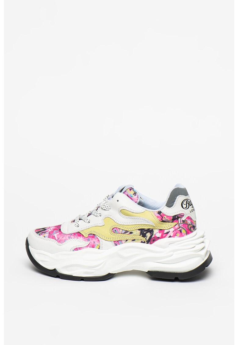 Pantofi sport de piele cu talpa masiva Eyza
