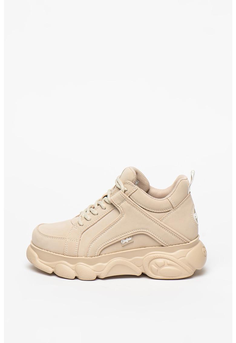 Pantofi sport wedge de piele ecologica Corinn