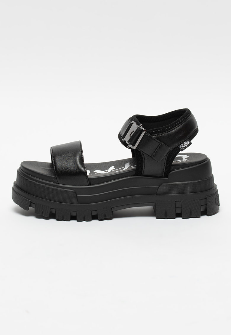 Sandale din piele ecologica cu talpa demi-wedge Jojo