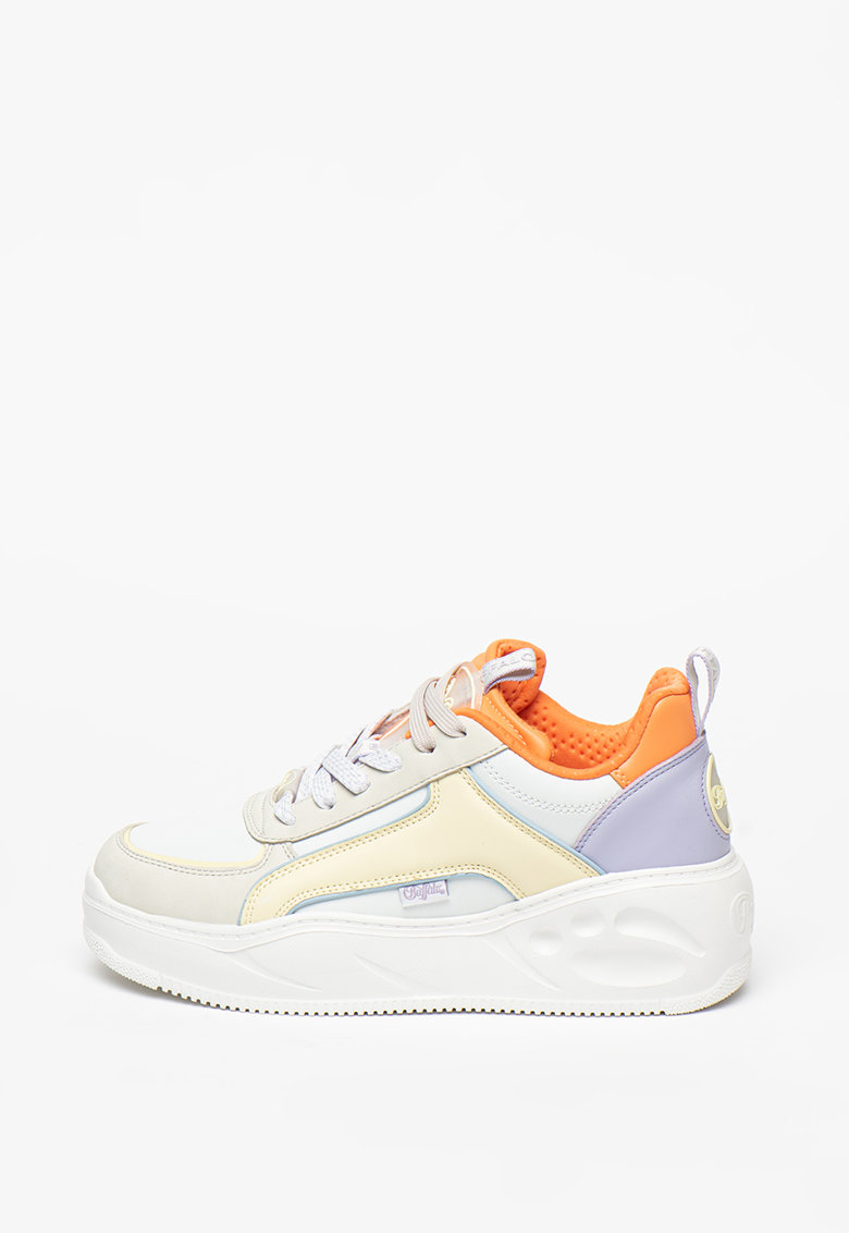 Pantofi sport wedge cu model colorblock Flat fashiondays.ro