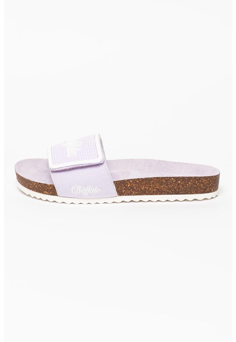 Papuci cu logo Raquel