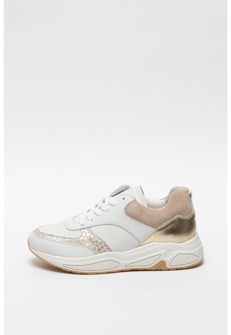 Pantofi sport de piele si piele intoarsa imagine