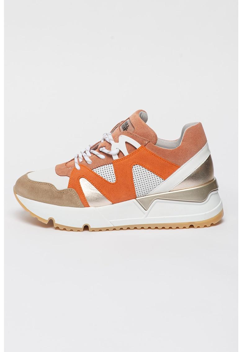 Pantofi sport de piele cu aspect masiv imagine fashiondays.ro 2021
