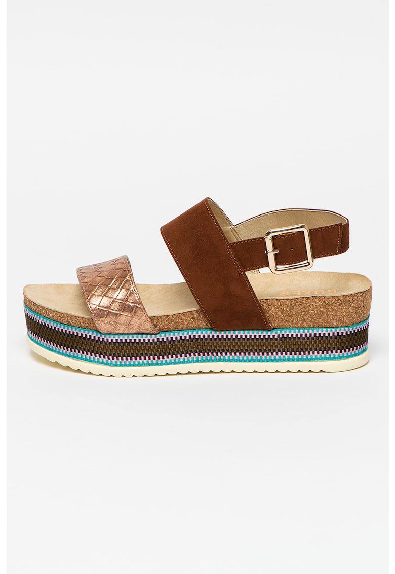 Sandale flatform din piele ecologica