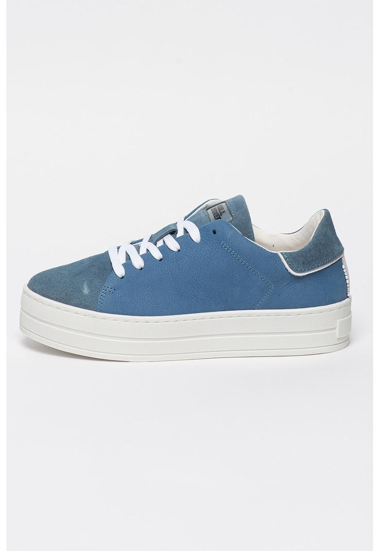 Pantofi sport flatform de piele intoarsa imagine fashiondays.ro 2021