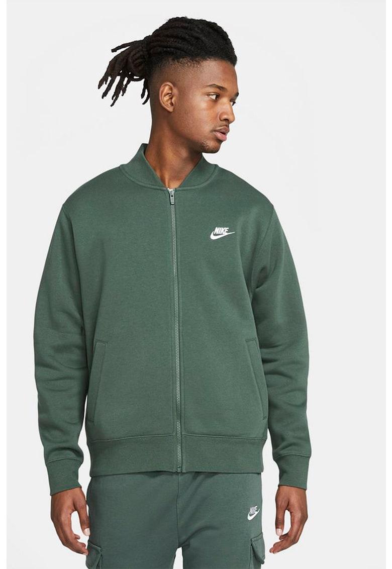 Bluza sport cu fermoar si imprimeu logo Bombr imagine fashiondays.ro Nike