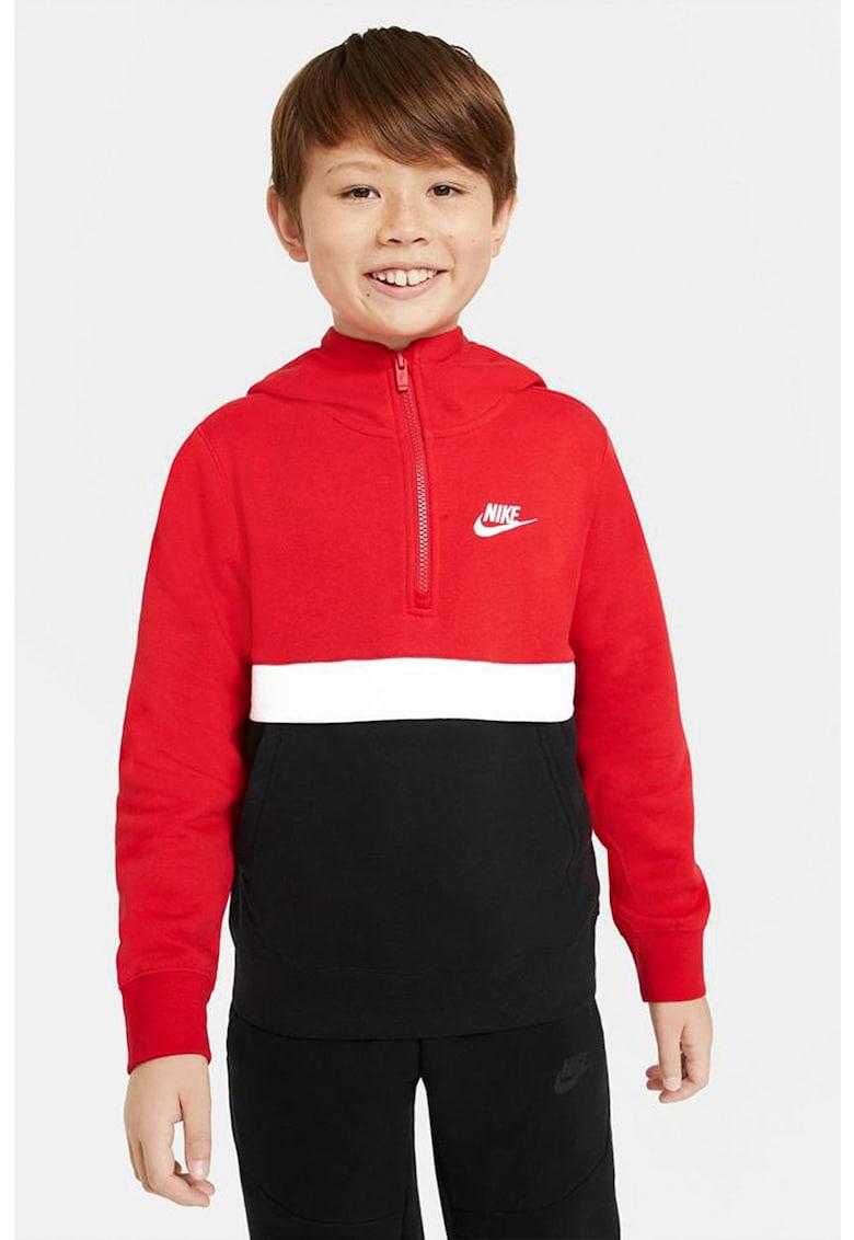 Hanorac cu fermoar scurt Sportswear Club imagine fashiondays.ro 2021