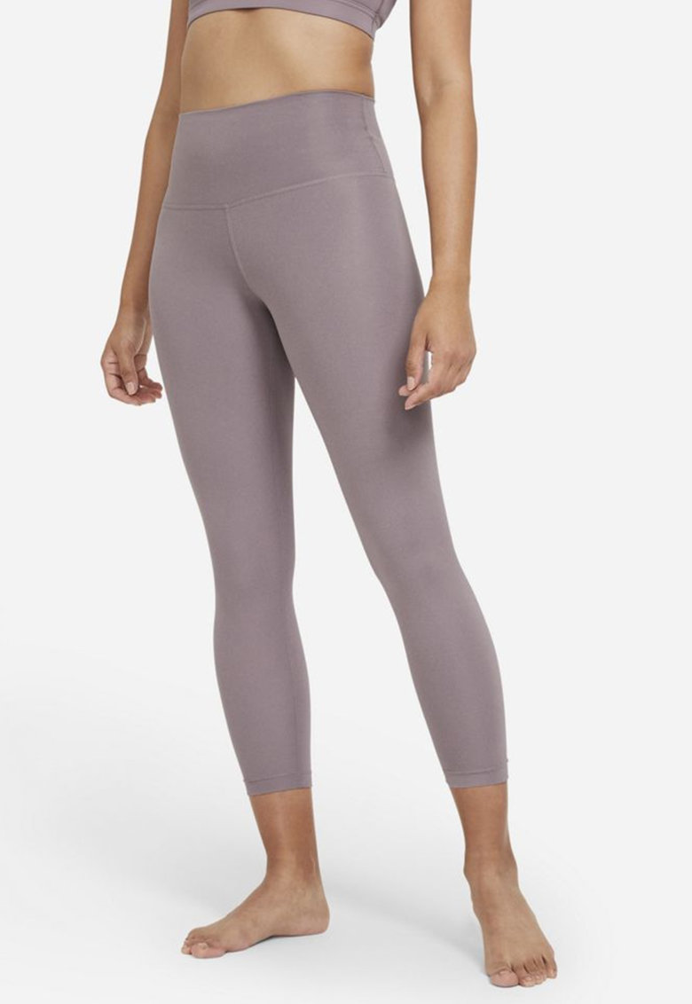Colanti 7/8 cu talie inalta si tehnologie Dri-Fit pentru yoga imagine fashiondays.ro Nike