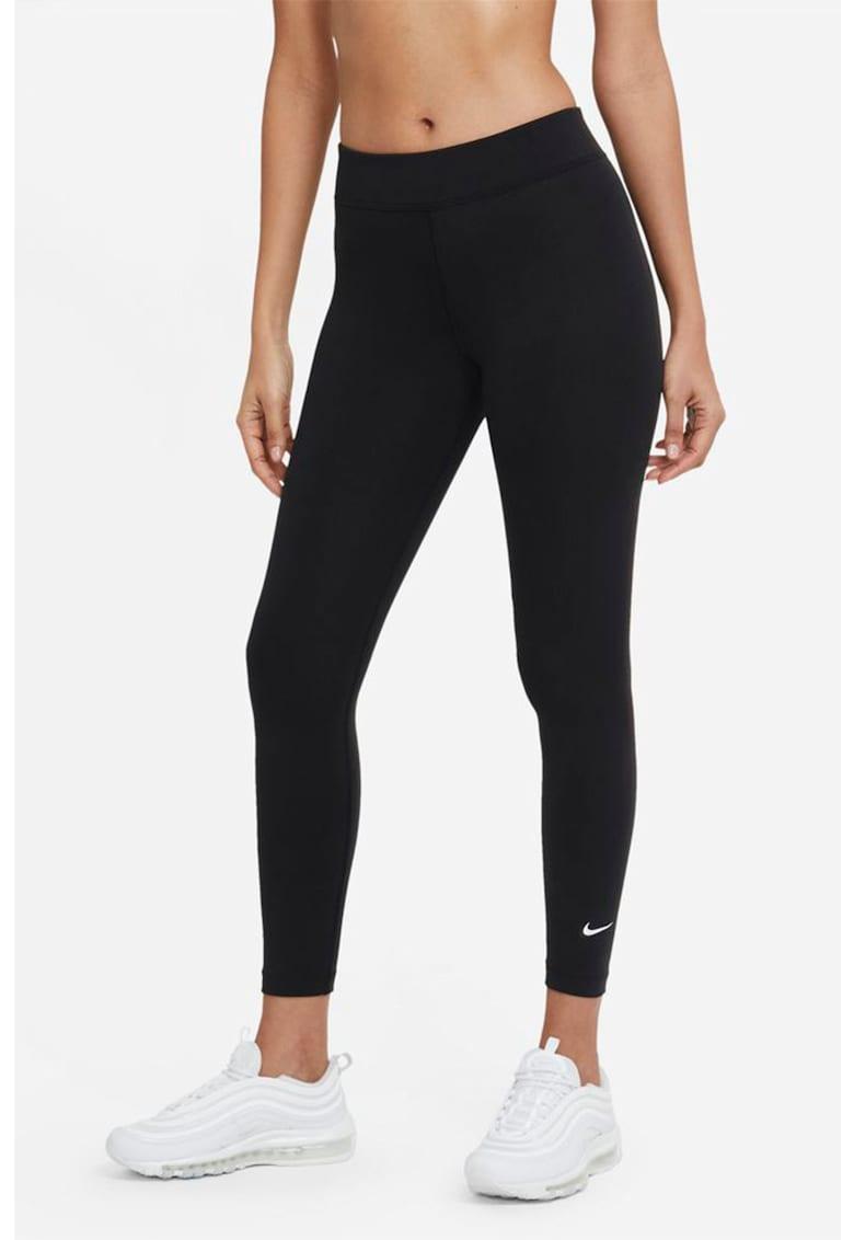 Colanti crop cu talie medie pentru fitness Essential Nike fashiondays.ro