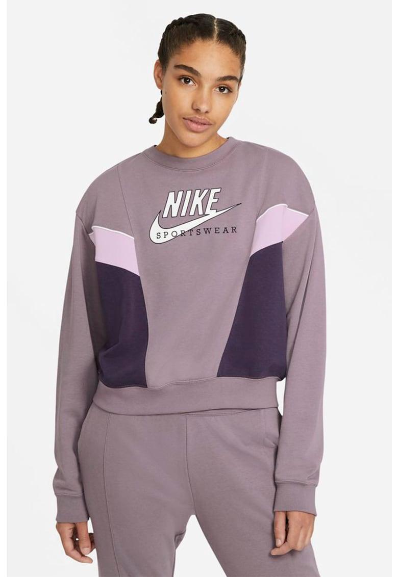 Bluza sport cu decolteu la baza gatului Heritage imagine fashiondays.ro Nike